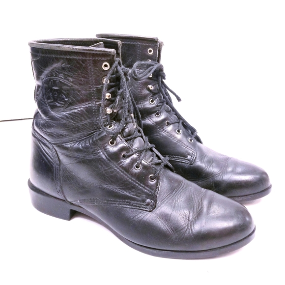 Ariat Leather Western Style Lace-Up Boots